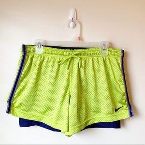 EUC - Nike - Dri Fit Neon Yellow Running Shorts